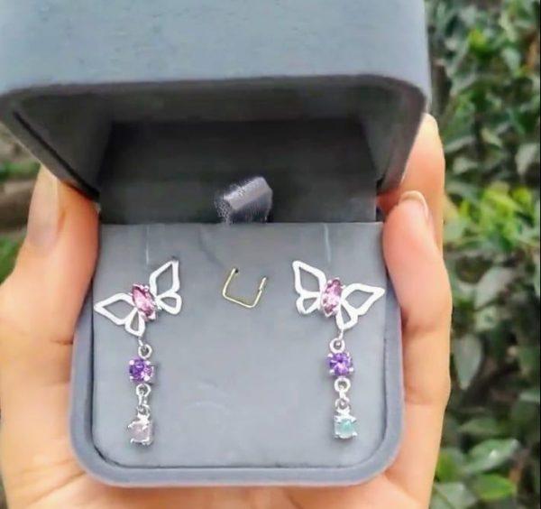 Arete Mariposa y gemas 2