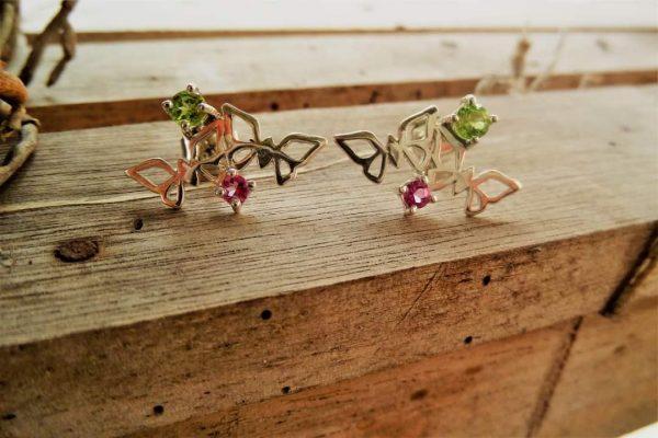 Mariposa peridotos